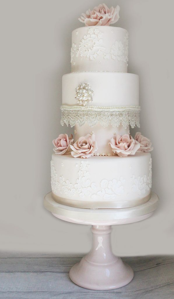 Lace wedding cake mansfield
