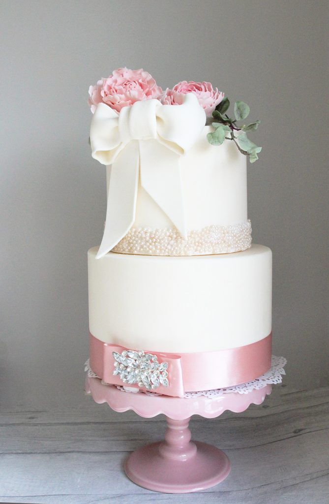 Peony wedding cake mansfield