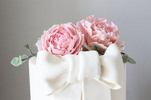 Top of peony cake