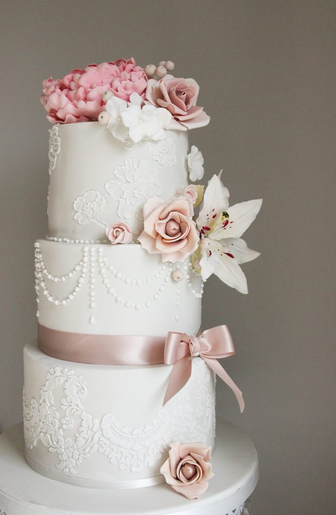 floral wedding cake mansfield