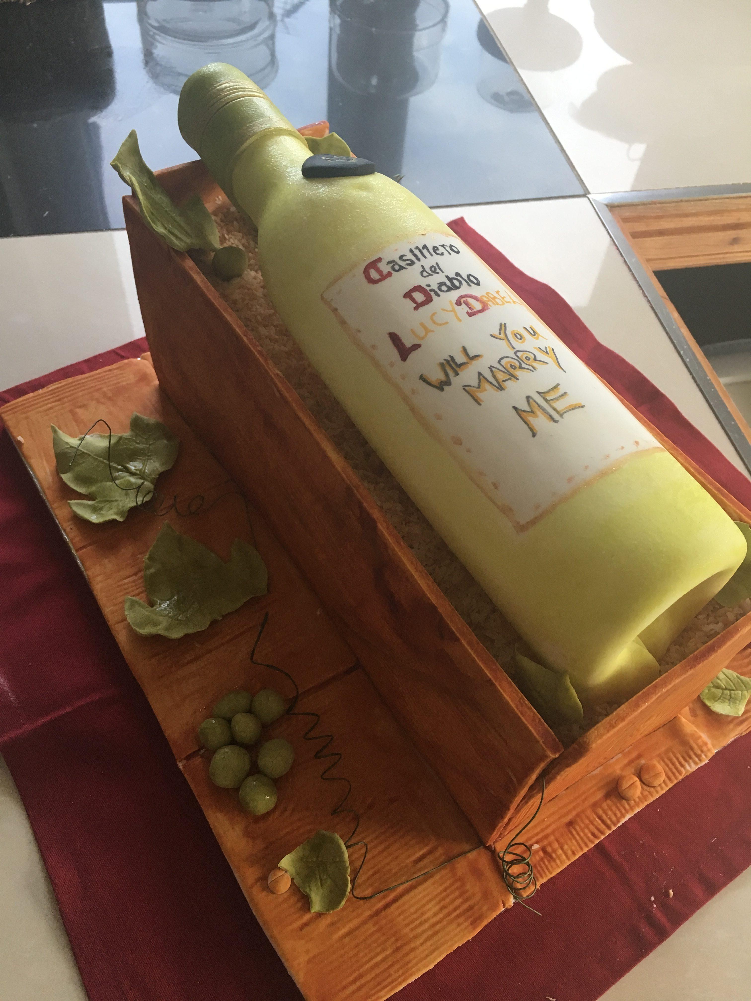 Wine cake in cake box