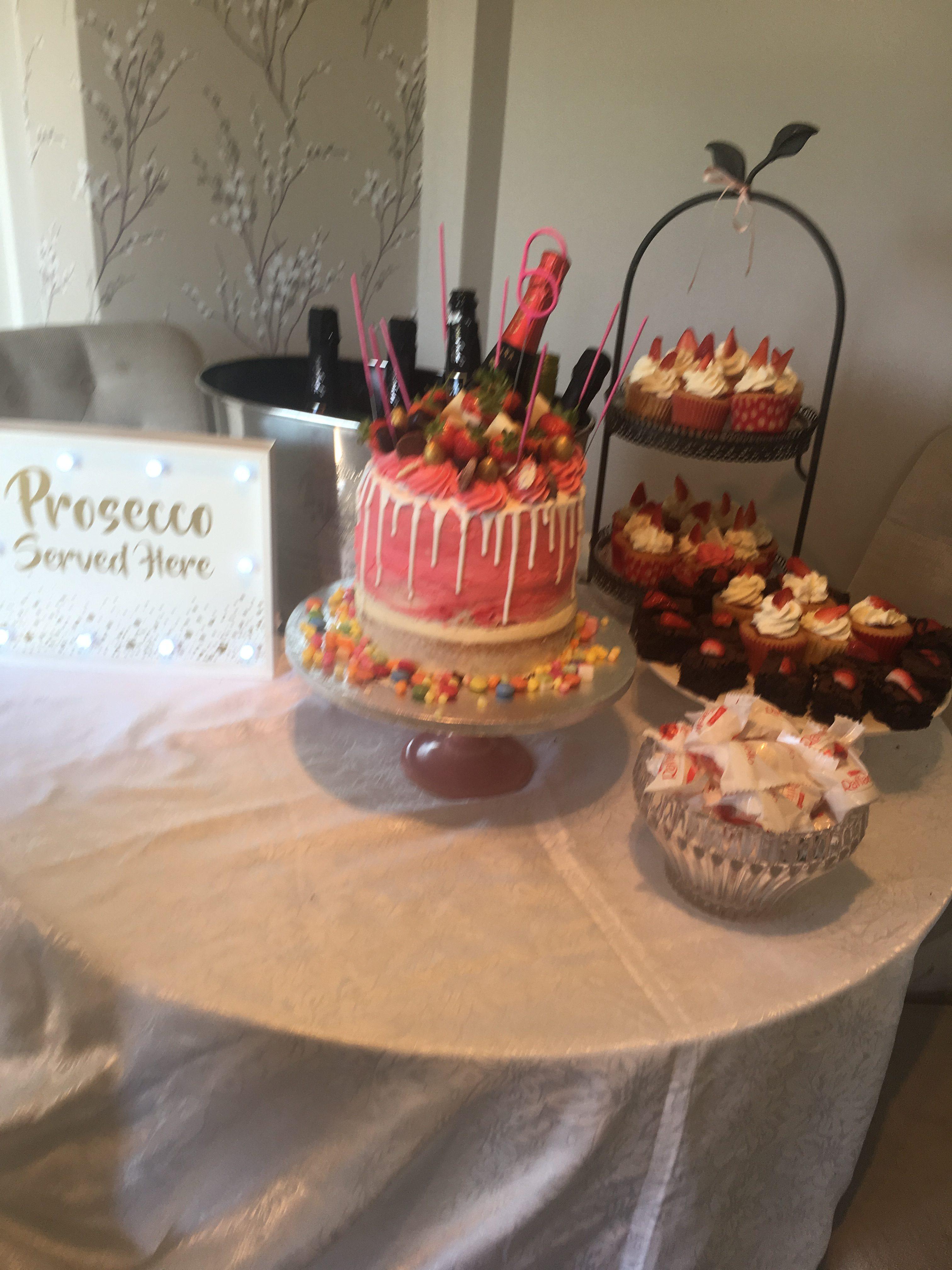 Prosaco  and cake